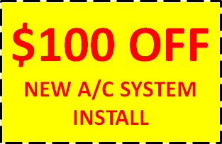 $100 OFF NEW AC SYSTEM INSTALL