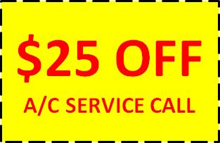 $25 OFF AC SERVICE CALL